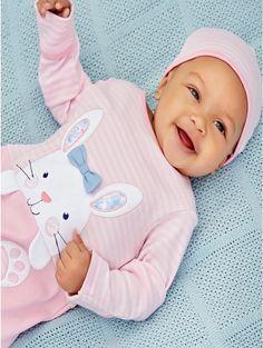 M&Co. Baby Bunny sleepsuit and hat set