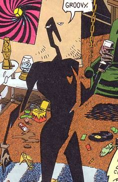 Mr. Nobody.  Super Villain, Mission: Take over the world through Dadaism.  Super Power:  You forget he's there.  (Doom Patrol)