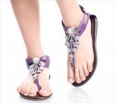 purple sandals...