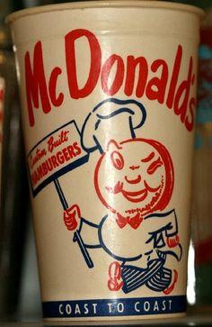 McDonald's drink cup(circa 1950s)