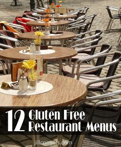 12 Gluten free restaurant menus: Panera, bj's, carrabas, macaroni grill, chipotle, Ca pizza kitchen, and more