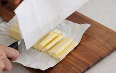 バターをキレイに切る