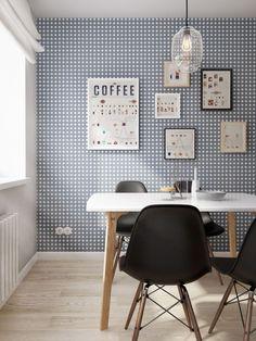 Blue Scandinavian Wallpaper