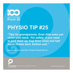 Tips for grandparents #physiotips