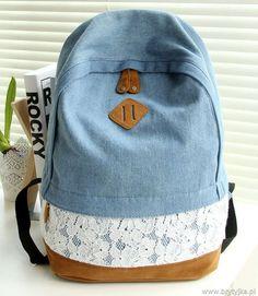 Vintage denim backpack http://www.brytyjka.pl/modny-plecak-unisex-a4-w-gwiazdki-atmosphere-id-414.html #denimbackpack #cutebackpack #jeansrucksack