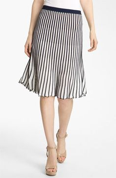 BCBGMAXAZRIA Stripe Sweater Skirt available at Nordstrom