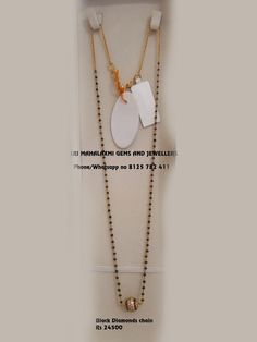 Gold Chain Design, Gold Bangles Design, Gold Earrings Designs, Gold Jewellery Design, Gold Jewelry, Black Diamond Chain, Gold Earrings For Kids, Black Beats, Gold Mangalsutra Designs