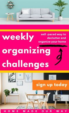 Join our weekly organizing challenges to get your home House Cleaning Tips, Cleaning Hacks, Book Organization, Bedroom Organization, Storage Hacks, Bathroom Kids, Organizing Your Home, Clean House, Kids Room