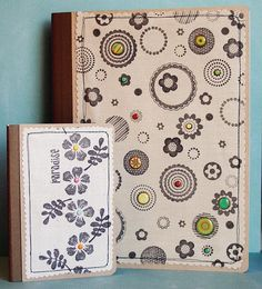 Stamped Fabric Covered Journals