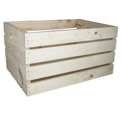 <div>Add your creative touch to this ready to finish wood crate. It's a perfect home décor box t...