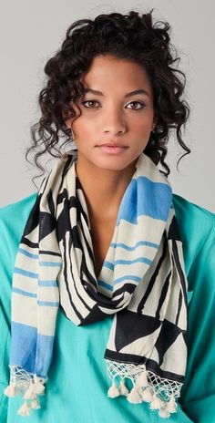 Love a cool looking scarf.