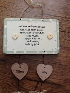 Shabby Personalised wooden chic plaque Nanny Nan Nanna Grandad Grandparents Etc | eBay