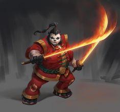 Pandaren fire Spirit by Izzual.deviantart.com on @DeviantArt