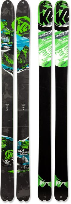 Tougher than your average backcountry skis, the descent-focused K2 SideStash skis navigate deep powder and slice through crud.