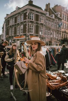 Andreea B. - Neutrals on repeat Boater Hat, Fedora Hat, Long Beige Coat, Beige Suits, Cute Spring Outfits, Tapered Trousers, Neutral Outfit, On Repeat, French Chic