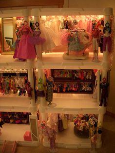 Barbie Store Barbie Store, Barbie Dolls Diy, Diy Doll, Plastic Shelving Units, Shopping, Home Decor, Decoration Home, Plastic Shelves, Room Decor