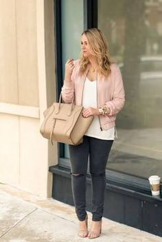 Image result for pink bomber jacket outfits