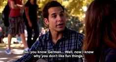 German- the destroyer of fun things