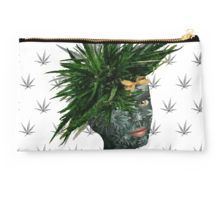 Studio Pouch - Mary Jane, my marijuana / cannabis design, is the 9th work in my surreal portrait series.