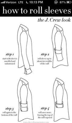 Come arrotolare le maniche alla camicia