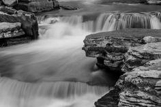 Berne Waterfall  photography  art  black & by EyeWasHerePhotos, $15.00