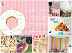 """Cute ideas for a """"donut party"""" or sleep over type party"""