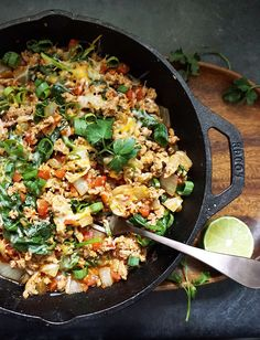 One Pot Turkey Taco Skillet | 23 Quick And Tasty Low-Carb Dinners Under 500 Calories