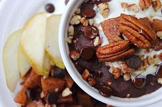 Pumpkin Apple Baked Oatmeal Pudding | vegan. | Pinterest | Baked ...