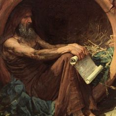 Diogenes of Sinope (412 – 323 BC) was the Greek philosopher of Cynicism and living the absolutely simplest lifestyle.