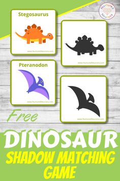 Why not help your kids develop their visual discrimination and language development skills with this cute dinosaur shadow matching game?  It's a free printable dinosaur activity any young dinosaur fans are bound to love.  Grab it and many more free preschool activities at Nurtured Neurons! Dinosaur Worksheets, Dinosaur Printables, Dinosaur Games, Dinosaur Activities, Dinosaur Crafts, Dinosaurs Preschool, Free Preschool, Preschool Learning, Early Learning