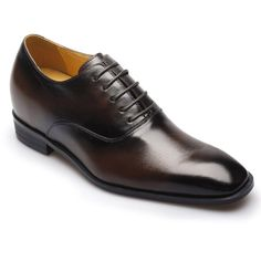 Reddish Brown Leather increase height men dress shoes #K6532-10