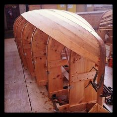 Back at work #boatbuilding #woodworking #planking #herreshoff    Coming along well here.