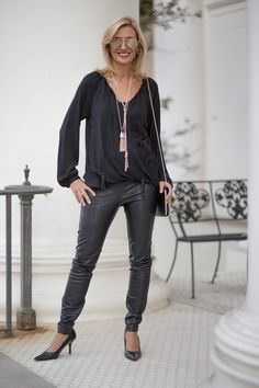 On the blog my Chic and Easy Holiday Party Look featuring our Black Crossover Blouson Tops, festive jewels and two beautiful new scarves all available in our shop www.jacketsociety.com