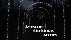 Awesome Homemade Driveway Christmas Arches #handmade #crafts #HowTo #DIY