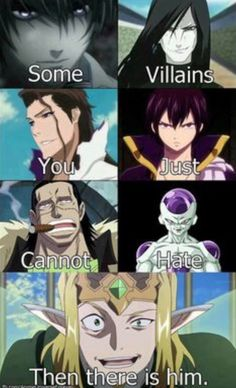 I literally want to beat the crap out of him. He is such a creepy pervert. But Zeref. I think Zeref is great <3