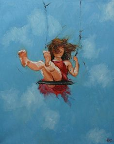 Print Swing 31 11x14 inch Print from oil painting by Roz by RozArt