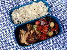 Bento no. Quick-assembly bento with nothing made ahead Vegetables For Babies, Veggies, Pak Choy, Tofu Burger, Mini Burgers, Bento Recipes, Salmon Cakes, Vegetable Stir Fry, Tuna