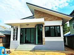 50 Box-Houses Design For Your Budget Below Million Simple Bungalow House Designs, Small Cottage Designs, Modern Bungalow House, Simple House Design, Cool House Designs, Small House Plans, House Floor Plans, House Floor Design, Philippines House Design
