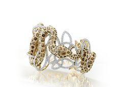 Farah Khan diamond-studded #snake bracelet