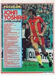 SHOOT Focus Liverpool Wales JOHN TOSHACK old retro football magazine picture | eBay