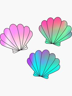 'Holographic Mermaid Shells Sticker Set' Sticker by Royal Sass Mermaid Shell, Mermaid Diy, Tumblr Stickers, Cute Stickers, Mermaid Cartoon, Cool Birthday Cards, Mermaid Theme Birthday, Kawaii Doodles, Sticker Bomb