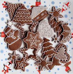 Christmas Sweets, Christmas Candy, Christmas Baking, Christmas Holidays, Gingerbread Decorations, Xmas Decorations, Gingerbread Cookies, Summer Cookies, Christmas Cookies