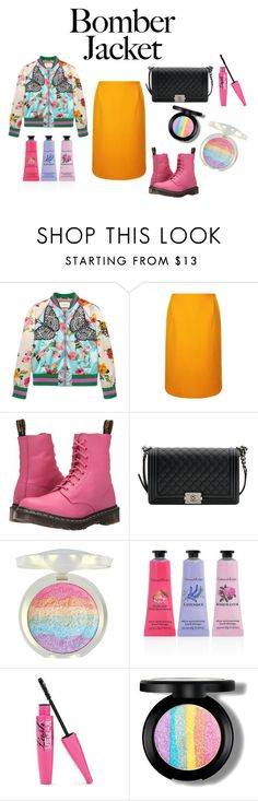 """""""Chicanova!!!"""" by mrudula-26 on Polyvore featuring Gucci, Jaeger, Dr. Martens, Chanel, Crabtree & Evelyn and bomberjackets"""