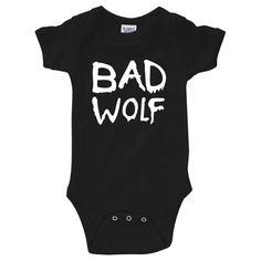 "Dr. Who ""Bad Wolf"" Onesie Creeper (New Born - 24 Months)"