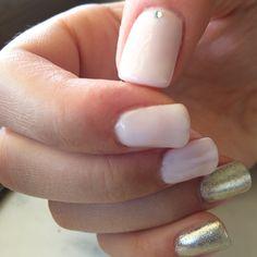 Romantique and silver mirror nails. I love shellac!