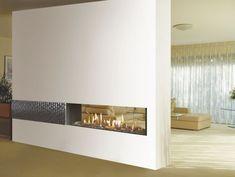 tunnel fireplace - separación de ambientes