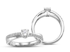 Kissing Diamonds Ring Diamond Cluster   C W Sellors Fine Jewellery and Luxury Watches