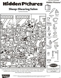 Highlights Hidden Pictures Printable 6 Best Images Of Highlights . Hidden Picture Games, Hidden Picture Puzzles, Colouring Pages, Coloring Books, Free Coloring, Highlights Hidden Pictures, Hidden Pictures Printables, Find The Hidden Objects, Find Objects