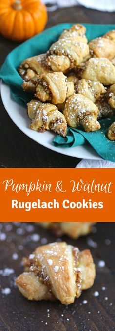 Looking for a special occasion cookie? Try this recipe for Pumpkin and Walnut Rugelach Cookies!