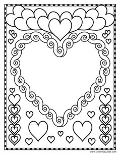 valentine hearts blank coloring pages printable and coloring book to print for free. Find more coloring pages online for kids and adults of valentine hearts blank coloring pages to print. Blank Coloring Pages, Heart Coloring Pages, Printable Coloring Pages, Coloring Books, Valentines Day Coloring, Valentines Art, Valentines Day Activities, Valentine Day Gifts, Printable Heart Template